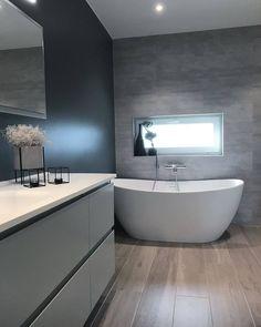 """Inspirasjon fra Bademiljø on Instagram: """"Viena badekaret fra @interformas gjør seg virkelig på badet til @henrietteshus 😍 Badekaret finnes også i grått og sort 👌 #mittbademiljø…"""" Bathtub, Bathroom, Blog, Home Decor, Design, Vienna, Bath Room, Homemade Home Decor, Bath Tub"""
