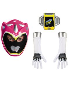 Kit Power Rangers™ Dinocharge rosa niña: Este set de accesorios Power Rangers es de licencia oficial Power Rangers Dinocharge™.Incluye semi máscara, guantes y hebilla de cinturón.La máscara es de...
