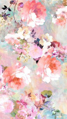 Wallpaper Nature Flowers, Vintage Flowers Wallpaper, Flower Backgrounds, Flower Wallpaper, Flor Iphone Wallpaper, Aesthetic Iphone Wallpaper, Wallpaper Backgrounds, Watercolor Wallpaper, Watercolor Flowers