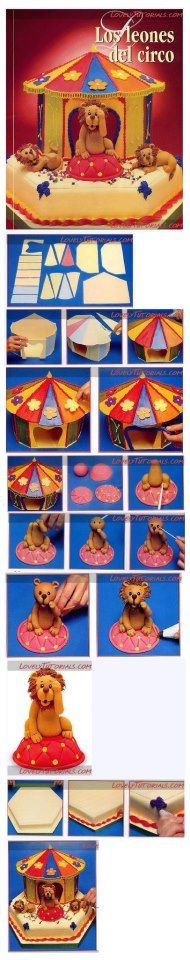 step by step circus cake...