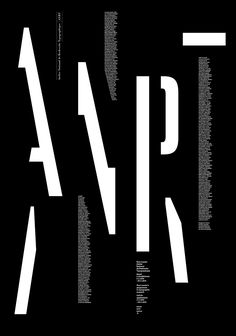 Alice Jauneau & David VallancePoster for Atelier National de Recherche TypographiqueNational Program for Typographic Research, France(via Aiap)