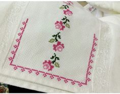 This Pin was discovered by Çiğ Ribbon Embroidery, Cross Stitch Embroidery, Cross Stitch Patterns, Bargello, Rug Hooking, Crochet Flowers, Cross Stitching, Needlework, Diy And Crafts