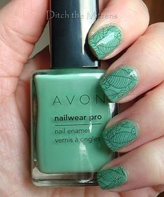 Avon: Jade, Olive Green    Ditch the Mittens: My Current Mani