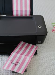 How to print on paper napkins. Easy tutorial! - pinning now, reading later. might come in handy in the future.