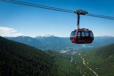 5 Canadian ski resorts worth visiting in the off-season. #whistler #blackcomb #gondola #mountains #peak2peak #ski #summer