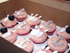 Anchors and Bowling Cupcakes!