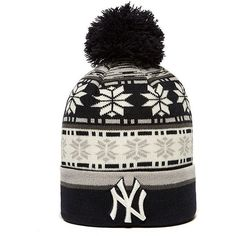 New Era MLB New York Yankees Beanie Hat ($30) ❤ liked on Polyvore featuring mens, men's accessories and men's hats