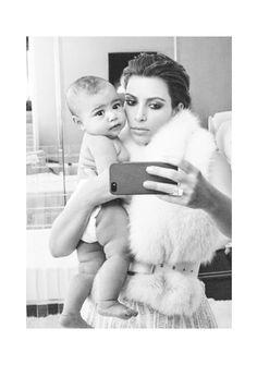 Kim K and baby North