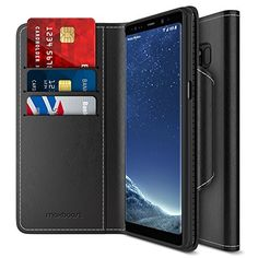 b2815e976eb Maxboost Note 8 Wallet Case  Folio Style   Stand Feature  mWallet Series  For Samsung Galaxy  Black  Protective Credit Card Leather Flip Cover  Card  Slot + ...