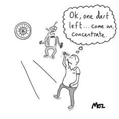 All in the mind . Under Pressure, Darts, Psychology, Cartoons, Mindfulness, Instagram, Psicologia, Cartoon, Cartoon Movies