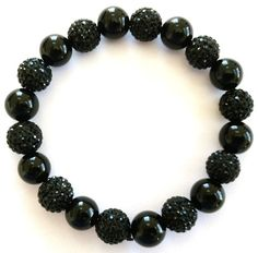 All Black and Pave by Angelwingsaccessory on Etsy, $35.95