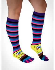 Gag Gifts & Funny Gifts, Tees and Party Lighting Gag Gifts, Funny Gifts, Thigh Highs, Knee Highs, Toe Socks, High Knees, Knee High Socks, Funny Tees, Spongebob