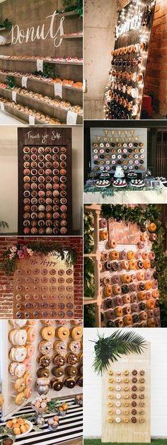 trending wedding donut wall decoration ideas