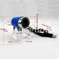 US Direct | Fashion USB 2.0 Webcam 30M PC Camera HD Camera Web Cam For PC Laptop Computer 6.44
