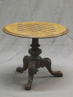 Antique Chess table Chess Board Table, Chess Boards, The Big Comfy Couch, Colorado Homes, Chess Sets, Chess Pieces, Building Ideas, Game Room, Office Furniture