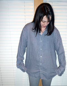 Domestic Bliss Squared: Men's shirt refashion and a (mostly) thrifted outfit