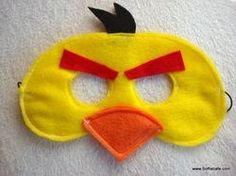 DIY: Idea Yellow Angry Bird mask - Also nice to take pictures with it halloween-scary
