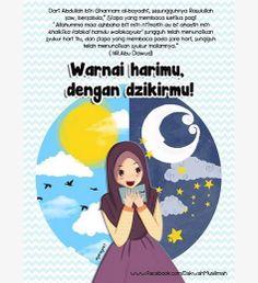 Dzikir Agama Kartun Ilustrasi Poster