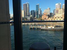 Evening View From Dining Room At Park Hyatt Sydney  Australian Beauteous Park Hyatt Sydney Dining Room Design Ideas