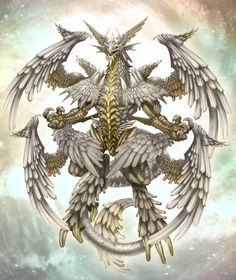 Rekont - Astral dragon who sailed across the sky, identified as a comet, who would trigger meteor showers. Fantasy Monster, Monster Art, Fantasy Dragon, Fantasy Warrior, Fantasy Creatures, Mythical Creatures, Feathered Dragon, Chaos Dragon, Types Of Dragons