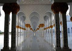 Arcade Columns-Grand Mosque- Abu Dhabi