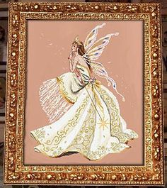 Queen of Fairies, The - Cross Stitch Pattern by Passione Ricamo.....Just bought a piece of Silkweaver fabric that is a perfect match for this.   Let's hope it's a large enough piece!!!!