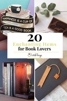 20 Enchanting Items Book Lovers Will Absolutely Adore: These 20 items for book lovers are both enchanting and adorable! Wooden Bookends, Magical Library, Luxe Decor, Leather Bookmark, Soft Flooring, Old Letters, Beauty Book, Vintage Lettering