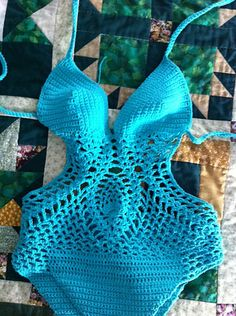 Ravelry: Project Gallery for the pineapple monokini pattern by tracy knowles