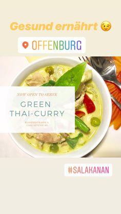 Original THAI taste Salakanan International Restaurant Offenburg +4978196643695 Green Thai, Thai Restaurant, Thai Recipes, Curry, Menu, Food, Health, Menu Board Design, Curries