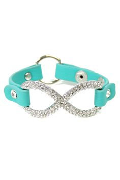 Crystal Infinity Bracelet in Turquoise on Emma Stine Limited