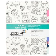 Yoobi Color-In Zip Pencil Case - Yoobi Awesome<br><br>Best-Case Scenario<br><br>There are a million choices out there for storing your supplies, so why not make them your own? Designed specifically with YOU in mind - color this case just how you like it. Who says pencil cases can't be one-of-a-kind? It even comes with a Yoobi tassel and charm to show everyone where you got it. You buy, Yoobi gives - For every Yoobi item you purchase, a Yoobi item will be donated to...