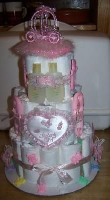 BABY GIRL AND BABY BOY DIAPER CAKES BABY SHOWER