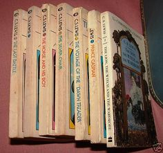 The Chronicles of Narnia by C.S. Lewis (In sequence: The Magician's Nephew, The Lion the Witch and the Wardrobe, The Horse and His Boy, Prince Caspian, The Voyage of the Dawn Treader, The Silver Chair, The Last Battle)
