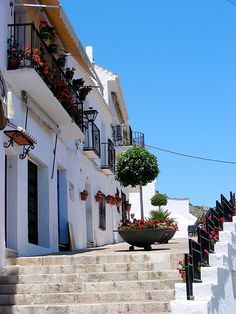 Lovely Travels, Mijas Spain, All About Spain, Places In Spain, Nerja, What A Wonderful World, Spain Travel, Malaga, Santorini