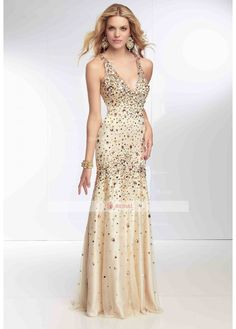 Mermaid/Trumpet Halter X-back Floor-Length Elastic Satin Sleeveless Prom Dresses