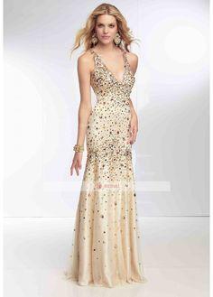Mermaid/Trumpet Halter X-back Floor-Length Elastic Satin Sleeveless Prom Dresses