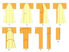 Like many other traditional Japanese garments, there are specific ways to fold kimonos. These methods help to preserve the garment and to keep it from creasing when stored. Kimonos are often stored wrapped in paper called tatōshi.