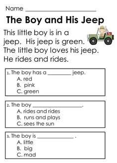 Image result for simple reading text for grade 1