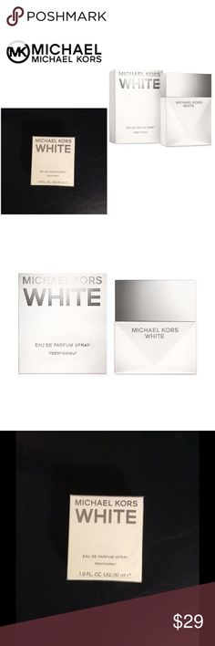 NEW Michael Kors White Parfum 1 oz Unopened New with tags, Unopened, Michael Kors White 1oz Parfum.  I put together my favorites packages for my clients, and often have extra products that I sell on here! I price my items lower to accommodate for shipping. I'm open to reasonable offers, especially if you're bundling with other items - you'll pay the same in shipping if you buy one or multiple items from my closet!All the funds go to the non-profit organization I'm founding 💜 Michael Kors…