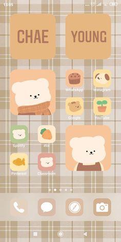 Cute Pastel Wallpaper, Cute Wallpaper Backgrounds, Aesthetic Iphone Wallpaper, Cute Wallpapers, Iphone Home Screen Layout, Iphone App Layout, Phone Themes, Kawaii Doodles, Iphone Design
