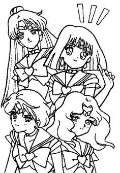 Manga Sailor Moon Picture Coloring Page | Color Luna
