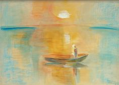 Jozsef Egry painting of lake Balaton, 1935 Picasso, Water Element, Fine Art Gallery, How Beautiful, Impressionism, Countryside, Sunset, Nature, Instagram