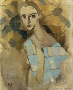Helene Schjerfbeck: Girl from Eydtkuhne II Finnish National Gallery/Ateneum Art Museum, The Kaunisto Collection. Helene Schjerfbeck, Art And Illustration, Female Painters, Royal Academy Of Arts, Harlem Renaissance, Inspiration Art, Henri Matisse, Oeuvre D'art, Contemporary Paintings