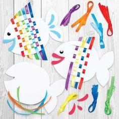 Buy Rainbow Fish Weaving Kits at Baker Ross. Fun weaving kits in rainbow fish designs. Includes foam templates, self-adhesive foam pieces, coloured ribbon and wiggle eyes Rainbow Fish Weaving Kits - Bakerross - Kathy Ko - - Rainbow Fish Weaving Kits – B Montessori Activities, Preschool Crafts, Diy Crafts For Kids, Preschool Activities, Arts And Crafts, Paper Crafts, Craft Kits For Kids, Rainbow Fish Crafts, The Rainbow Fish