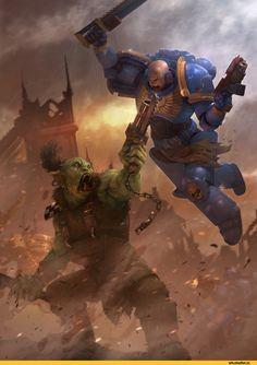 LozanoX,Ультра превозмогает орков,WH Other,Warhammer 40000,warhammer40000, warhammer40k, warhammer 40k, ваха, сорокотысячник,WH Песочница,фэндомы