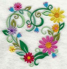 Vintage Embroidery Patterns Machine Embroidery Designs at Embroidery Library! Machine Embroidery Thread, Machine Embroidery Projects, Embroidery Transfers, Learn Embroidery, Free Machine Embroidery Designs, Vintage Embroidery, Floral Embroidery, Embroidery Stitches, Hand Embroidery