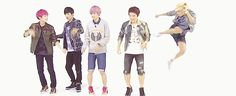 Lol! I love this part! It looks like only Changjo was strong enough to stay on his feet