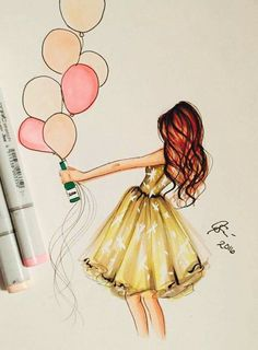62 Ideas for fashion illustration sketches inspiration simple Happy Birthday Painting, Happy Birthday Drawings, Arte Fashion, Dress Fashion, Girly Drawings, Colorful Drawings, Beautiful Drawings, Fashion Sketches, Fashion Illustrations