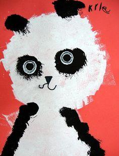 Artsonia Art Museum :: panda portraits - zoo animals