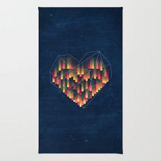 Interstellar Heart II Rug by VessDSign @Society6